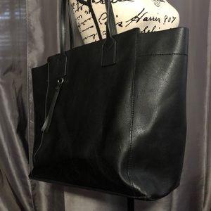 Zara basic black tote